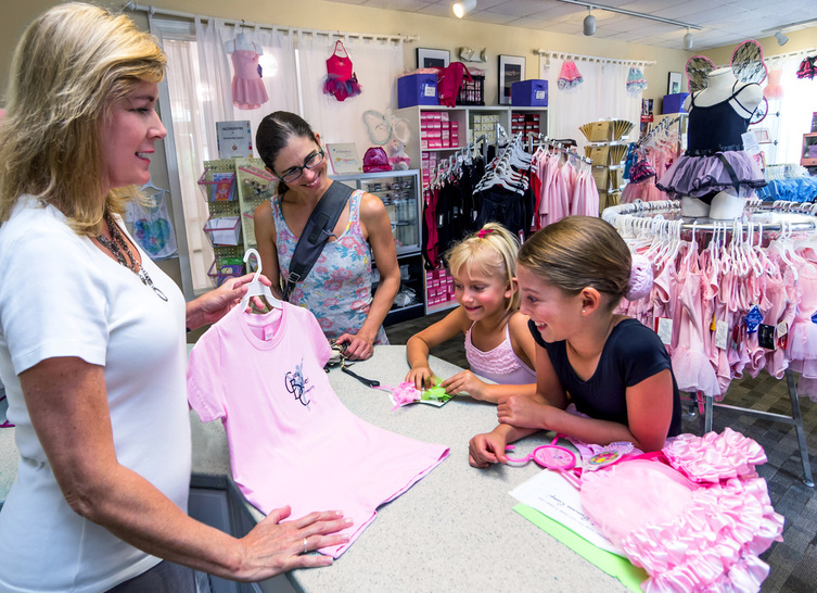Everything Dance at Cary Ballet can help you with all your dancewear needs, from leotards to shoes to professional fittings.